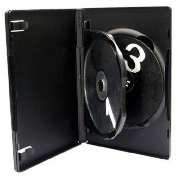3枚収納 DVDトールケース ブラック