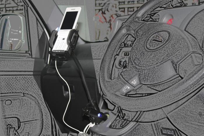 シガーソケットモバイルホルダー