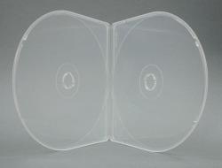 半円形スリムCDケース2枚用 スーパークリア