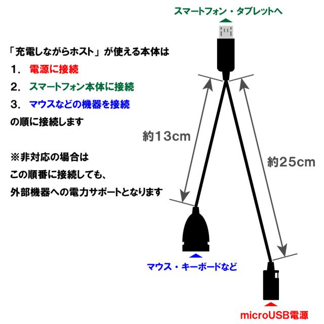 ストラップホール付OTGケーブル