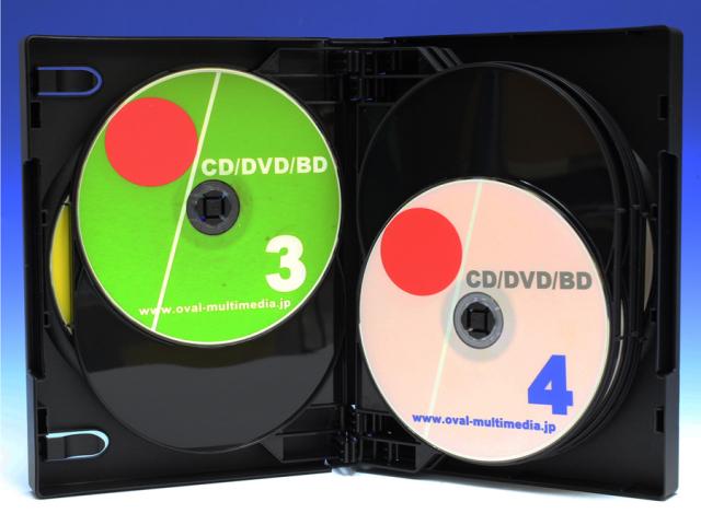 10枚収納CD/DVDケースブラック