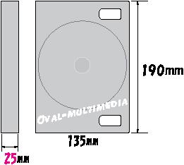 8枚収納DVD・BDケース外形サイズ