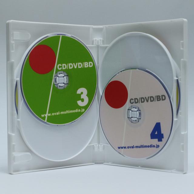 6枚収納CD/DVDケースホワイト