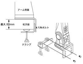 8軸式ロングくねくねデュアルモニターアーム