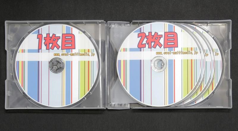 10枚収納CD/DVDケースクリア